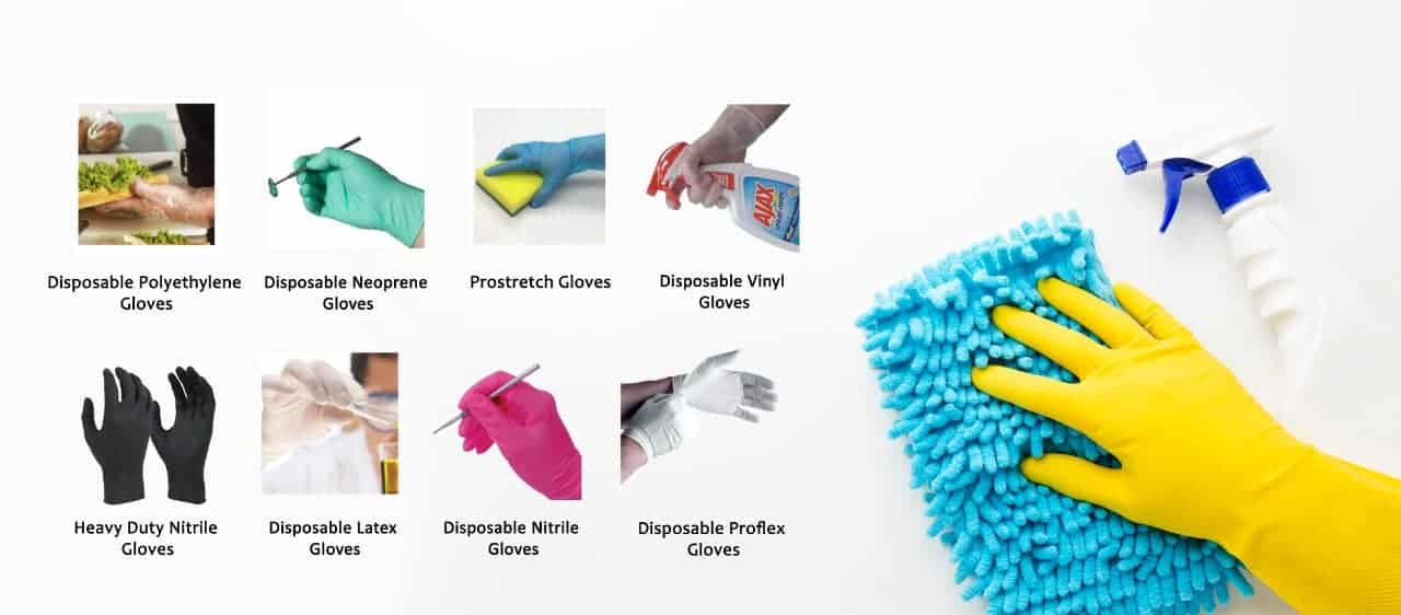 Disposable Glove Suppliers in Perth with a range of gloves such as Latex Gloves, Nitrile Gloves, Speciality Gloves