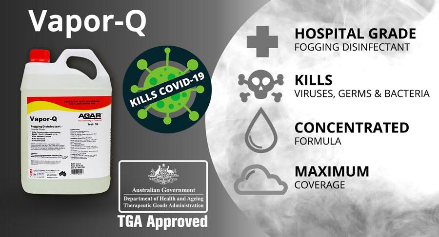 Vapor -q fogging disinfection